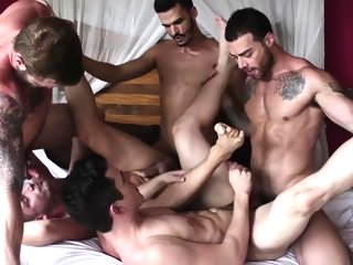 bareback 5-some Bareback Groupsex 5-some